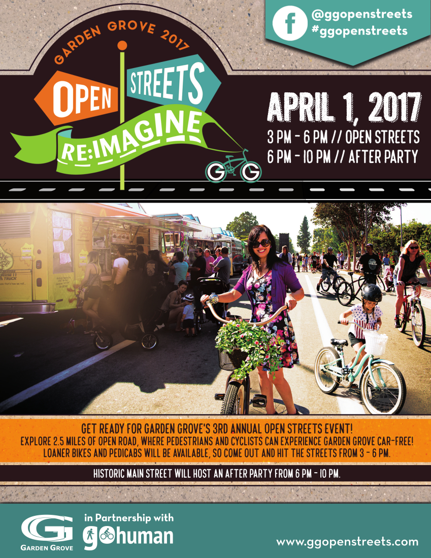 Photo of the 3rd annual Open Streets event flyer