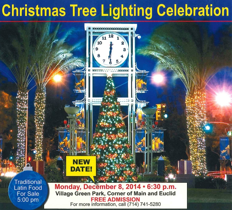 Christmas Tree Lighting Postponed City Of Garden Grove