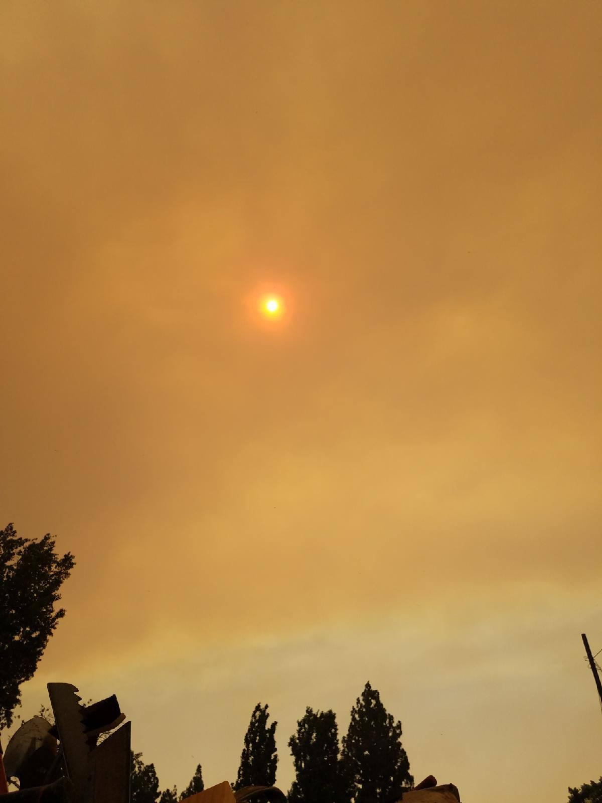 Canyon Fire 2, Garden Grove Smoke Advisory