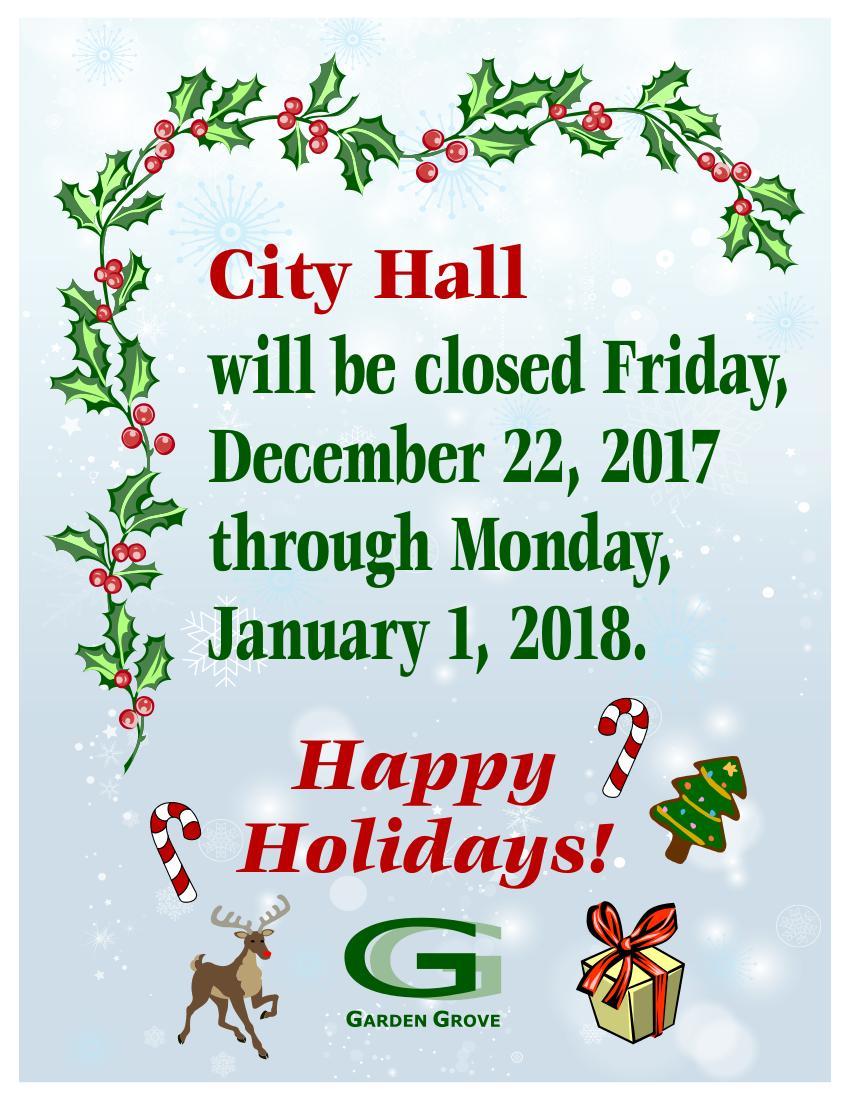 Christmas Closure Flyer