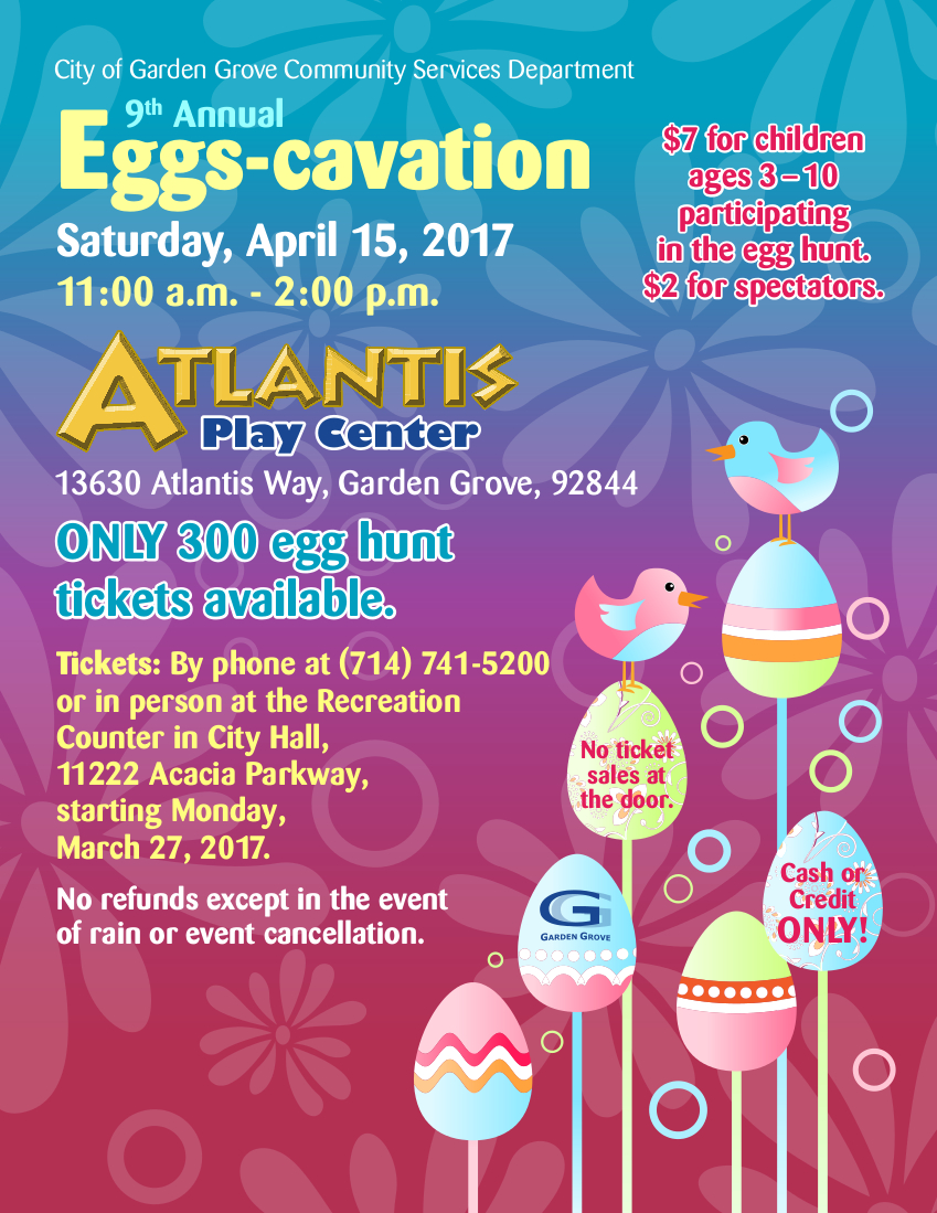 Photo of the Eggscavation 2017 flyer