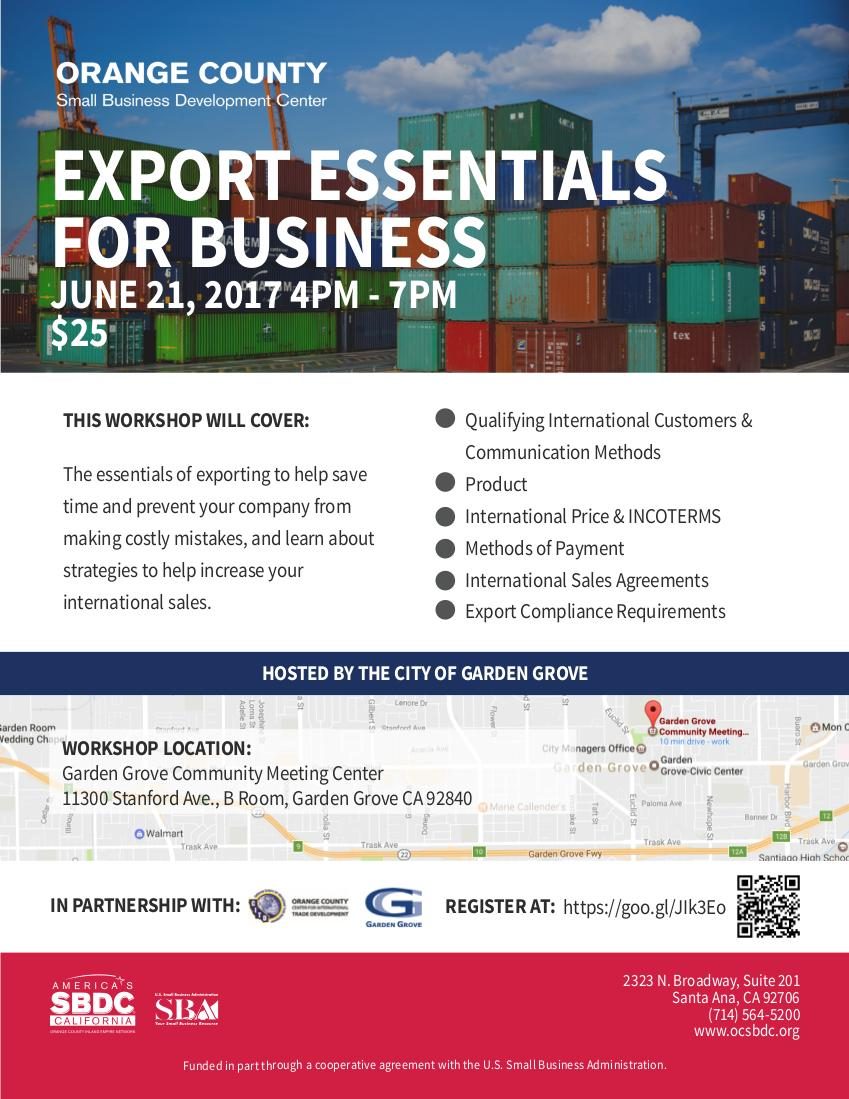 Export Essentials for Business
