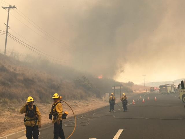 GGFD fighting Canyon 2 Fire