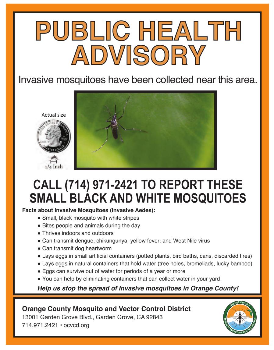 Invasive Mosquitoes Found in Garden Grove | City of Garden Grove