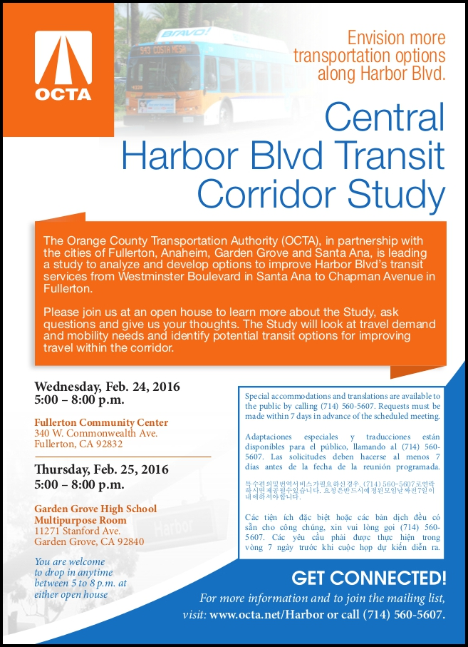 Photo of OCTA's Harbor Open House Flyer