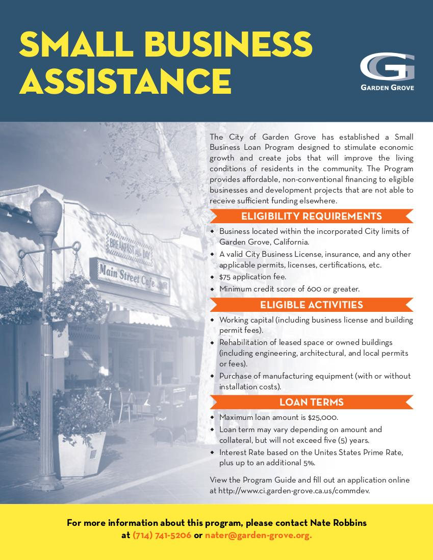 Small Business Assistance Loan Program Brochure