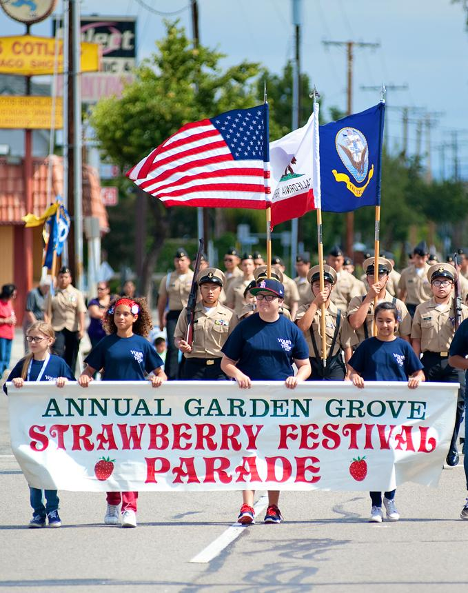 Photo of the annual Strawberry Festival Parade.