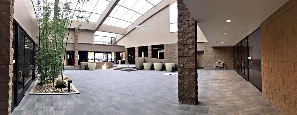 Photo of the Community Meeting Center's Atrium after the renovation