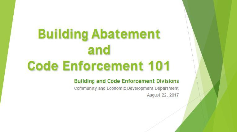 Building Code Abatement 101