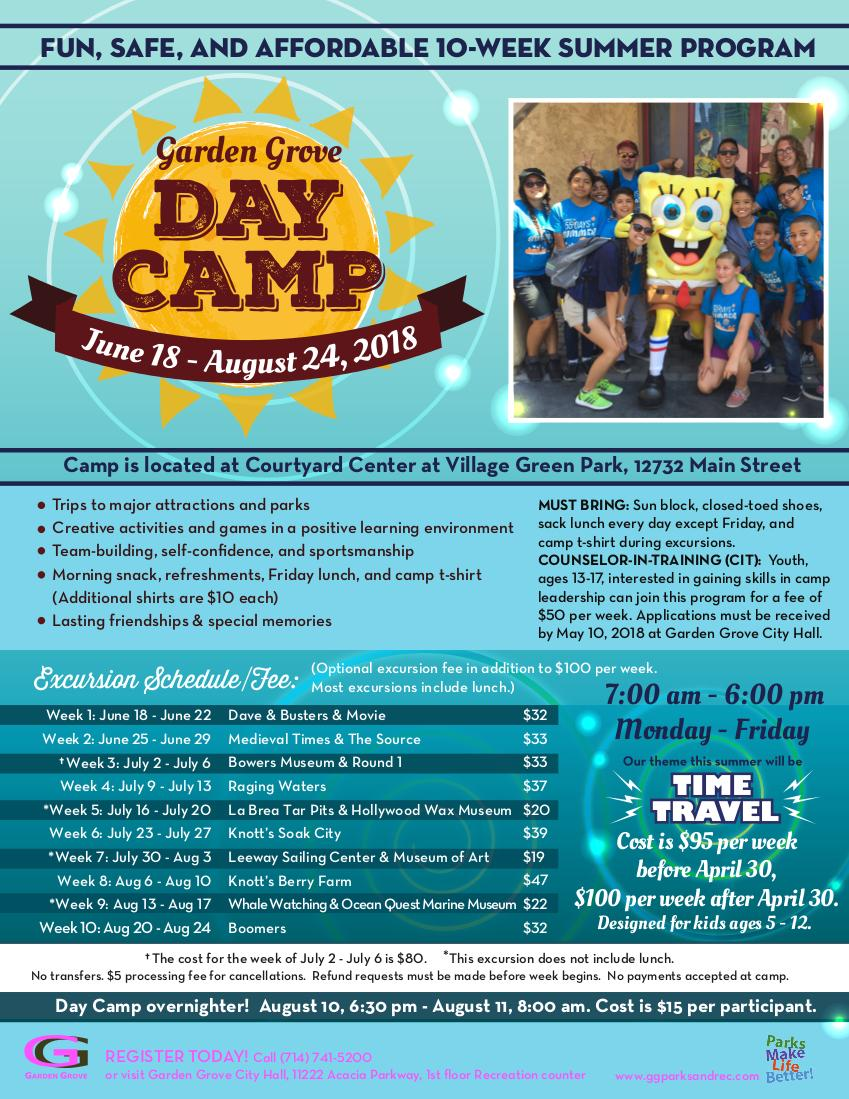 Photo of the 2018 Day Camp Flyer