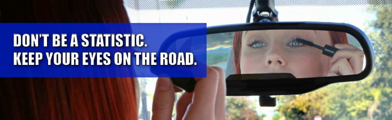 Photo banner of the Distracted Driver ad