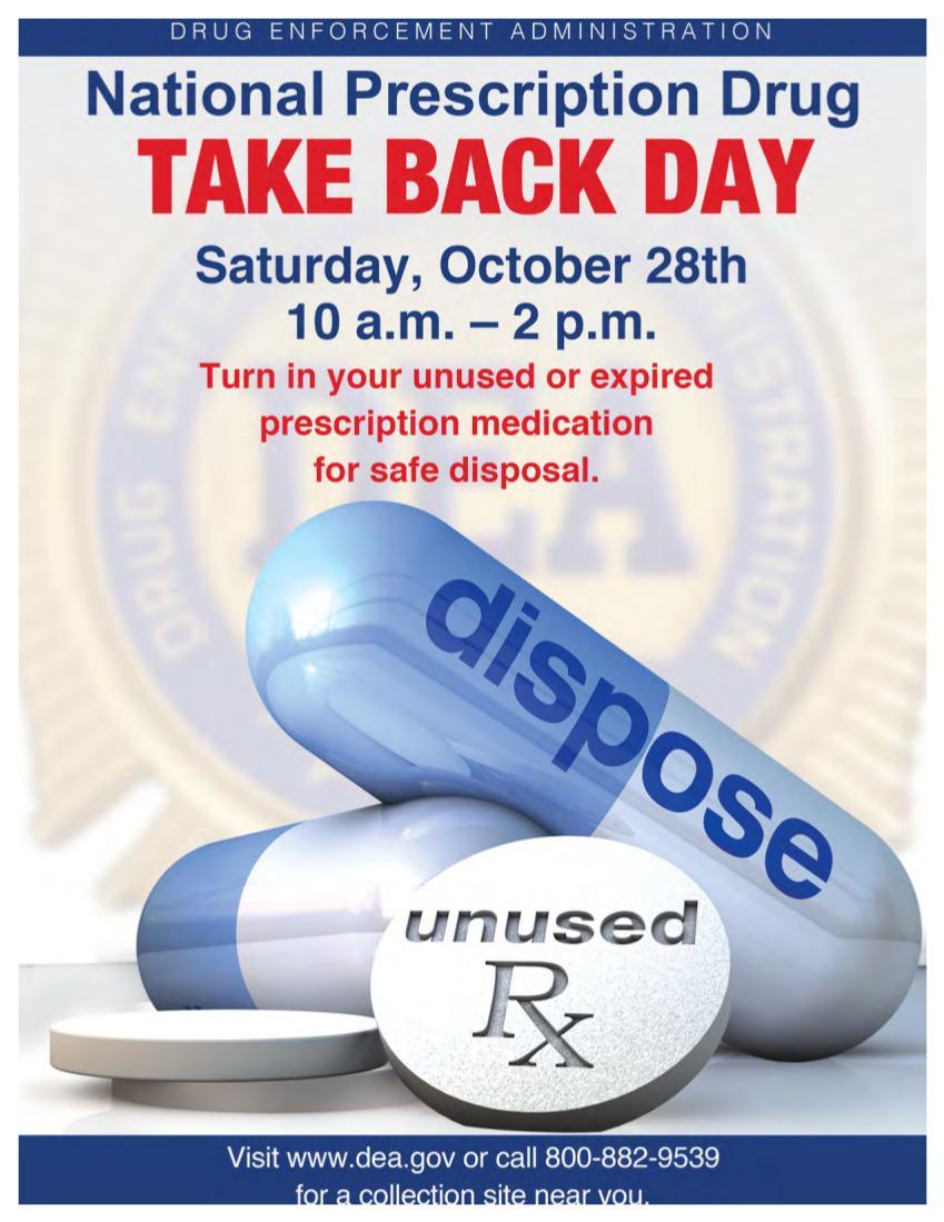 National Drug Take Back Poster