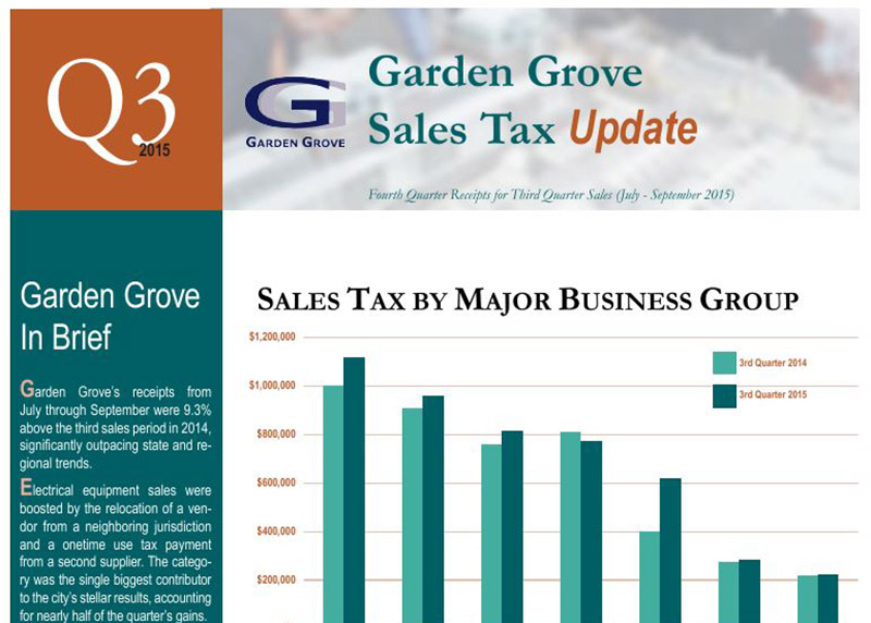 Garden Grove Tax Report