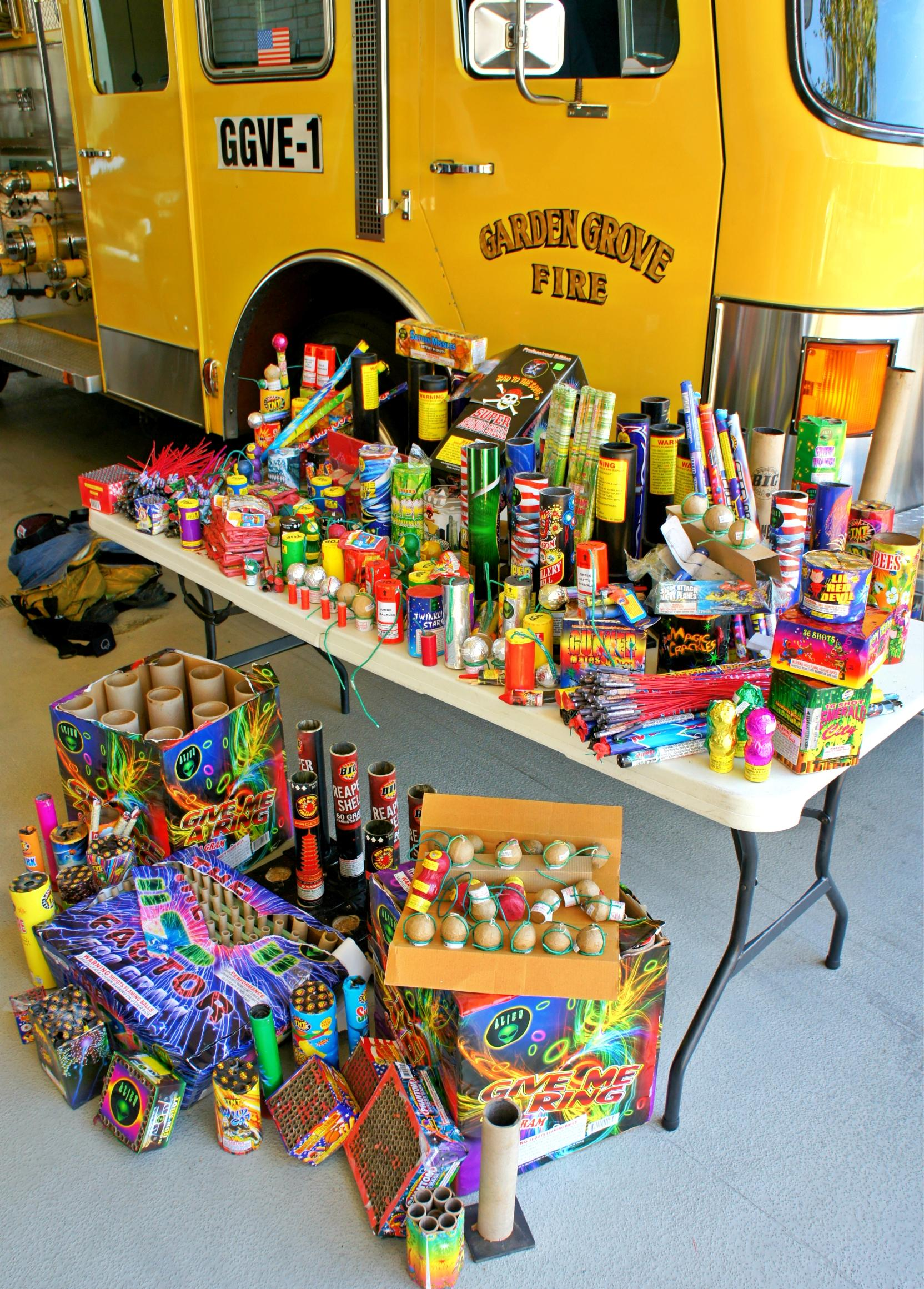 illegal fireworks seized in 2014