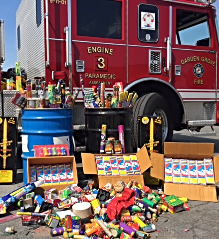 Photo of illegal fireworks confiscated in 2017.