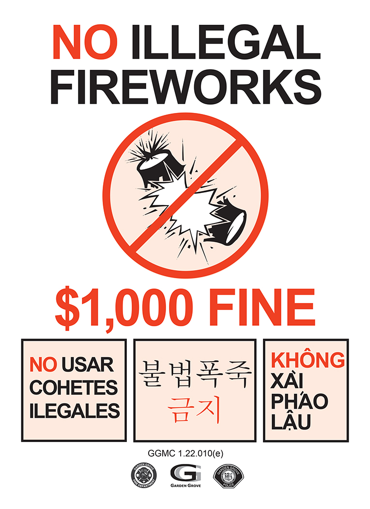 Photo of the illegal fireworks flyer