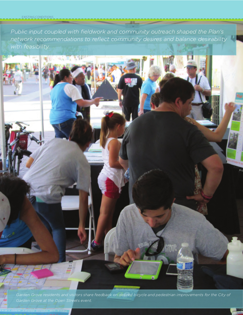 Photo of the Open Streets booth flyer