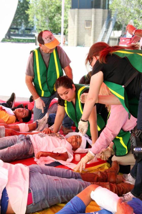 Photo of C.E.R.T.'s training on how to prepare for, respond to, and recover from a disaster