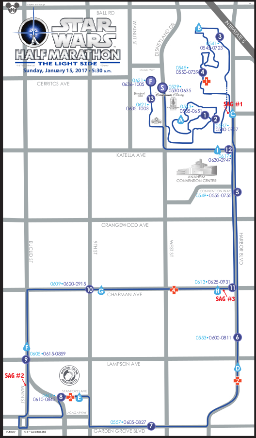 Photo the Star Wars Half Marathon route map