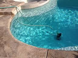 Photo of a pool drain