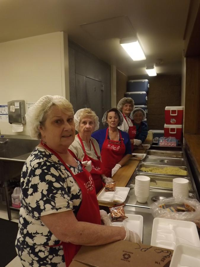 Photo of meal preparations at the Senior Center