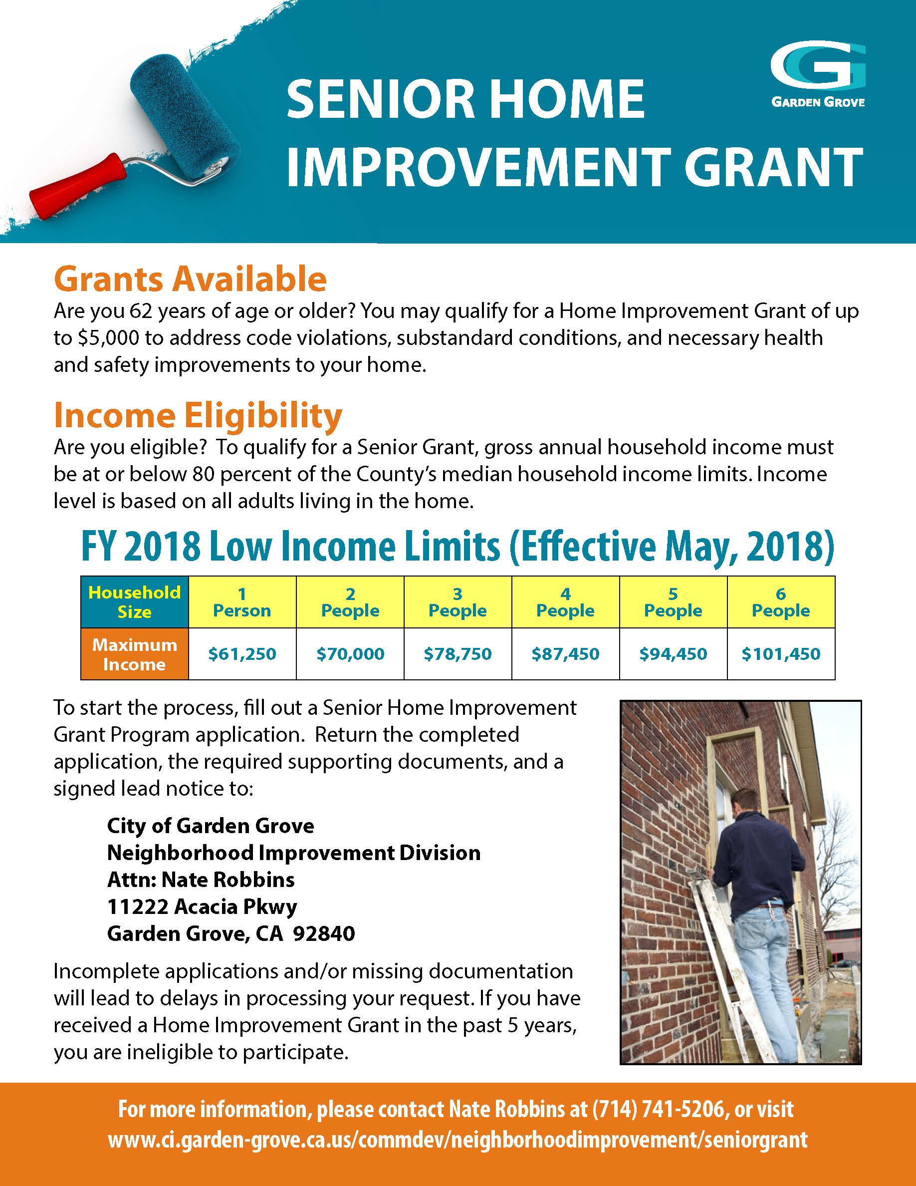 Image of the Senior Home Improvement Grant flyer