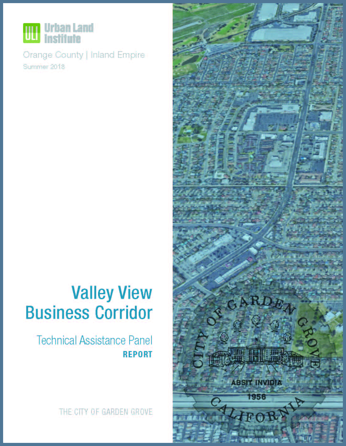 Valley View Business Corridor ULI TAP report front cover