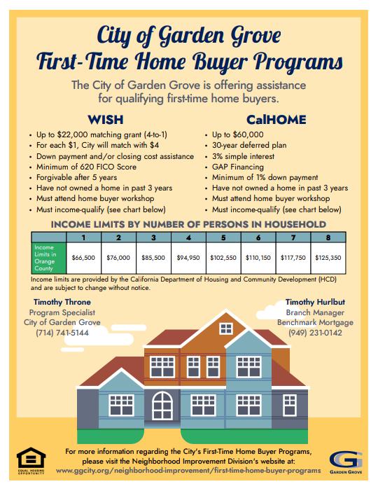 First Time Home Buyer Programs City Of Garden Grove