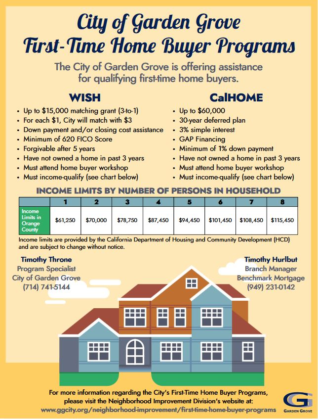 First-time Home Buyer Program Flyer