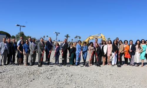 Home2 Suites by Hilton ground breaking event.