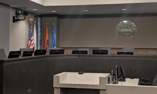 Photo of the Council Chambers.