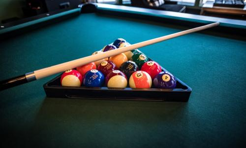 Photo of a pool table.
