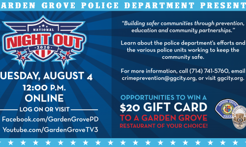 National Night Out social media graphic.