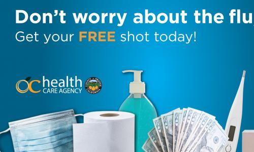 OC HCA's flu shot campaign graphic.