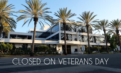 City Hall is closed on Veterans Day.