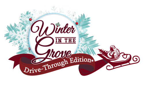 Winter in the grove drive-through edition logo