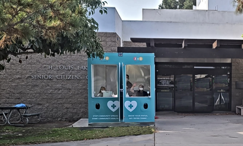 Photo of the 360 Clinic kiosk at 11300 Stanford Avenue.