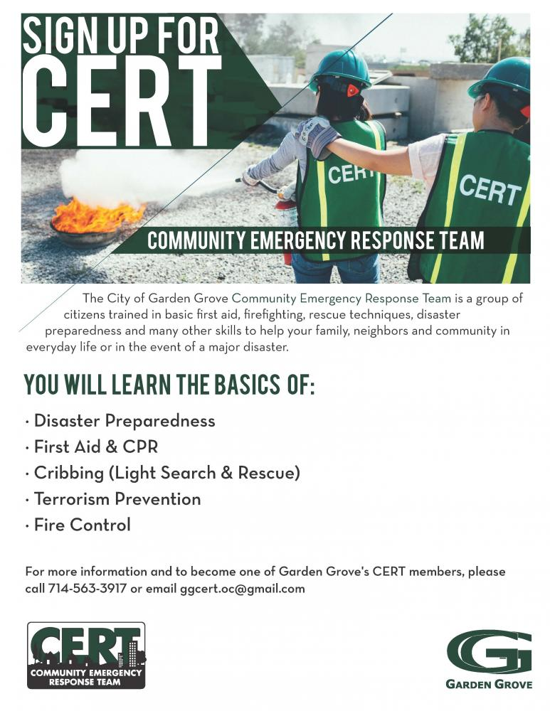 Openings Available for Upcoming Disaster Preparedness and