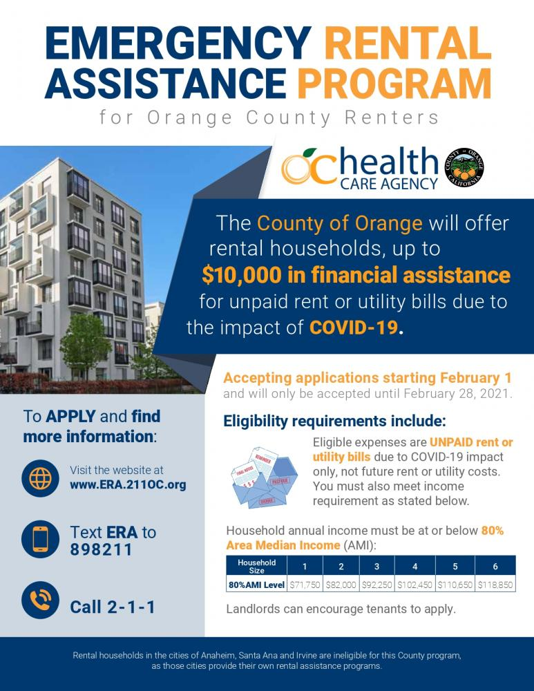 County Launches Emergency Rental Assistance Program City Of Garden Grove