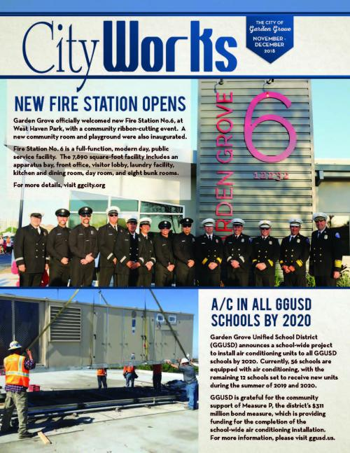 Cityworks November and December 2018