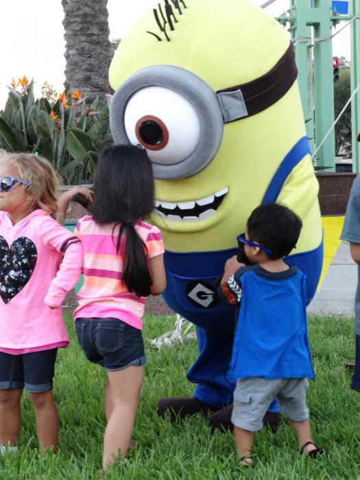 Image of the 2016 Movie in the Park with Minions.