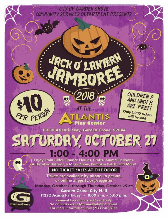 Image of the 2018 Jack O'Lantern Jamboree Flyer.