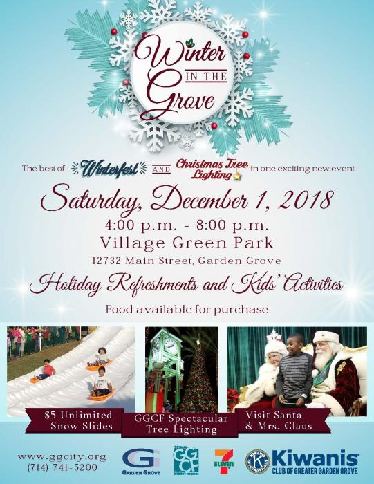 Winter in the Grove flyer