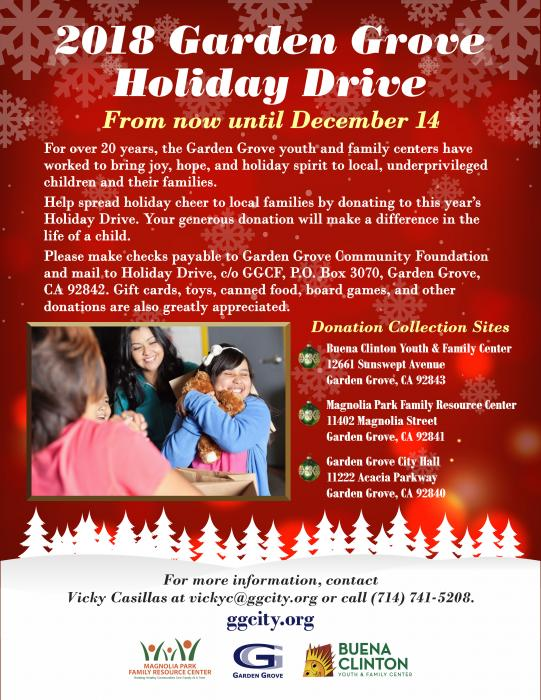 2018 Holiday Drive flyer.