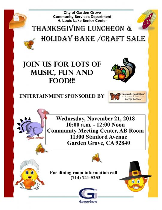 Thanksgiving Luncheon 2018 Flyer
