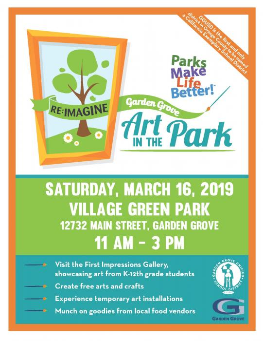 Art in the Park Flyer