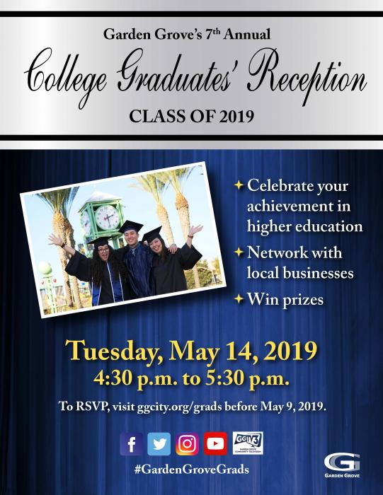 2019 GG College Graduates' Reception flyer