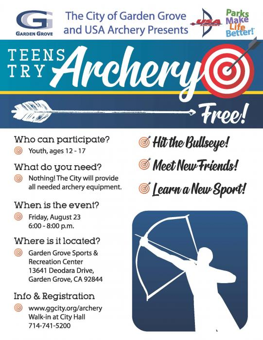 'Teens Try Archery' August 23
