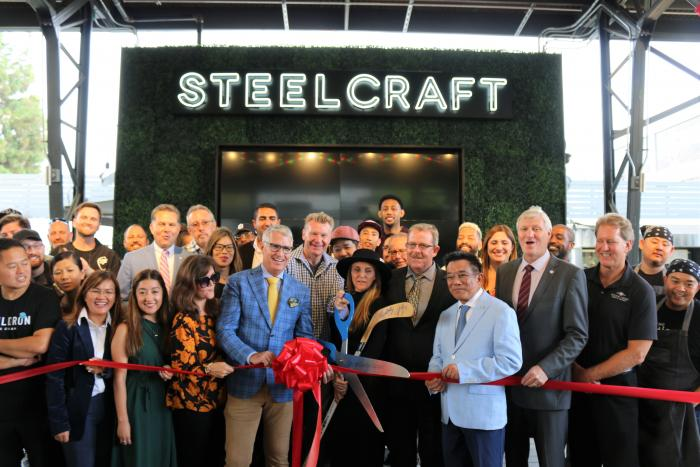 SteelCraft Garden Grove ribbon cutting.