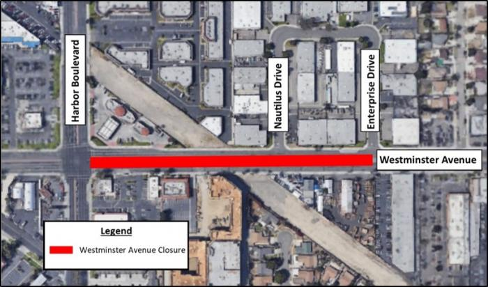 Map of the full closure.